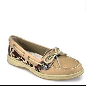 🖤SPERRY TOPSIDER ANGELFISH LEOPARD BOAT SHOES